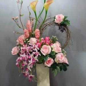 bunga lily,mawar,anggrek